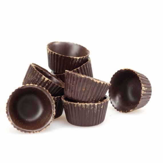 Bicchierini di cioccolato fondente