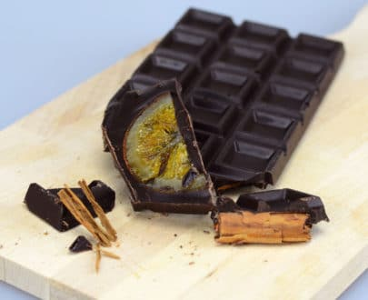Cioccolato fondente arancio e cannella