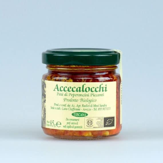 Accecalocchi – Pâté di peperoncini piccanti BIO