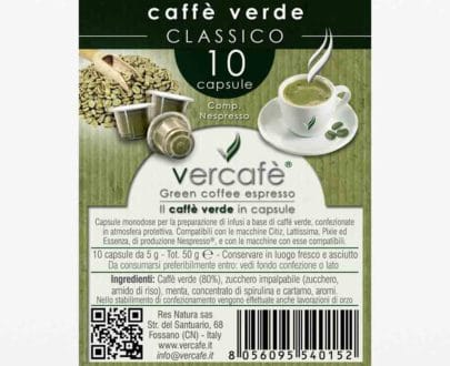 Vercafè Classico – Capsule compatibili Nespresso