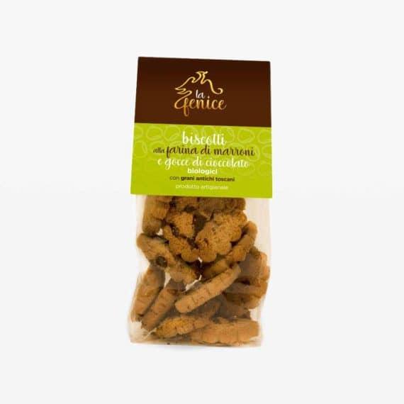 Biscotti alla farina di marroni e gocce di cioccolato BIO