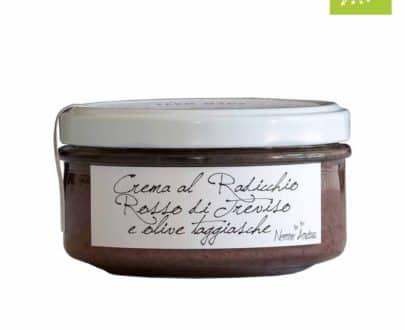 Crema al radicchio rosso di Treviso e olive taggiasche BIO