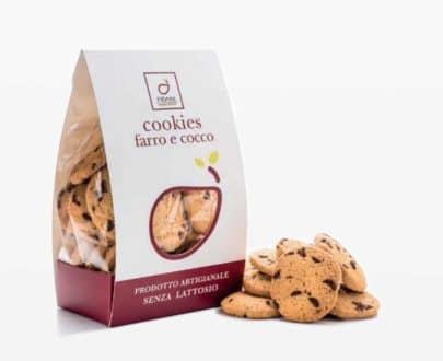 Cookies farro e cocco senza lattosio