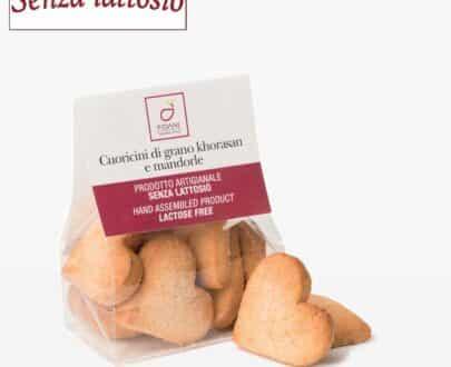 Cuoricini di grano khorasan e mandorle senza lattosio