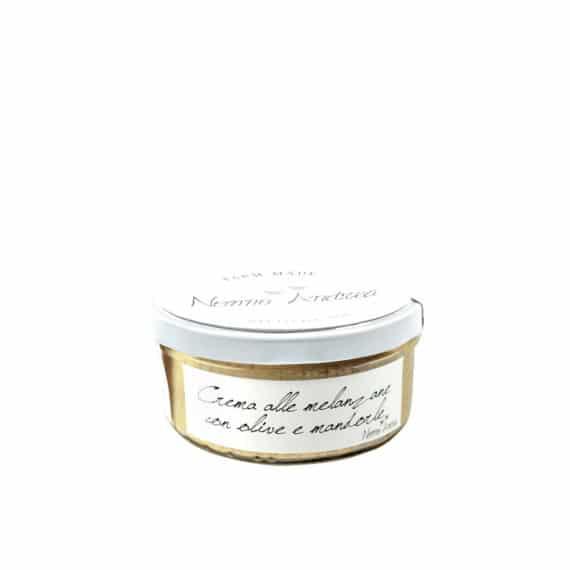 Crema alle melanzane con olive e mandorle BIO