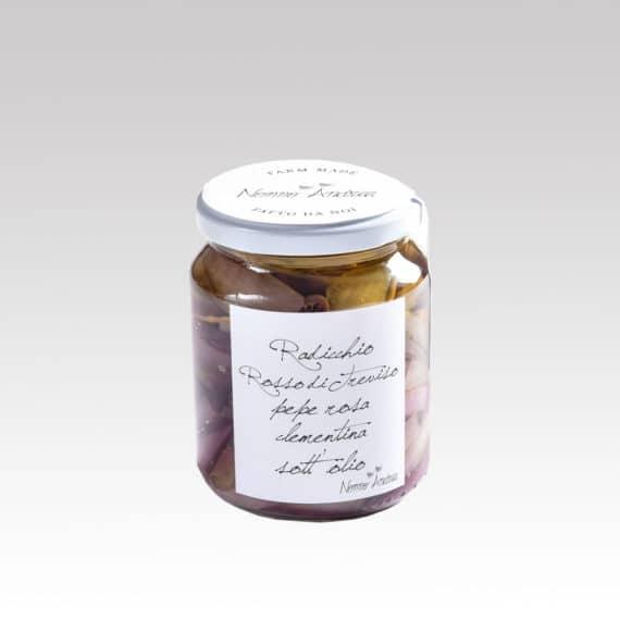 Radicchio rosso di Treviso, pepe rosa e clementina sott'olio BIO