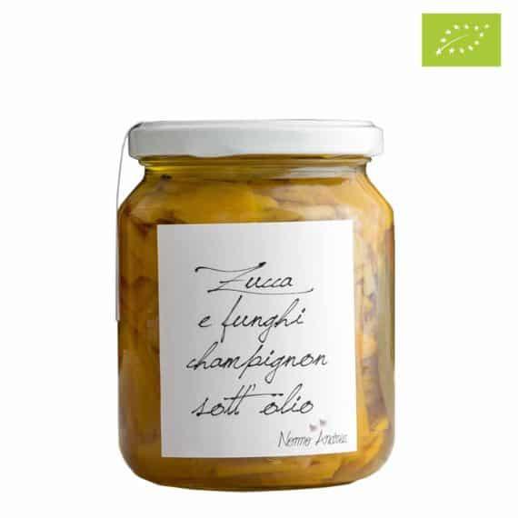 Zucca e funghi champignon sott'olio BIO