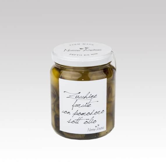 Zucchine farcite con pomodoro sott'olio BIO