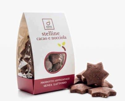 Stelline cacao e nocciola senza lattosio