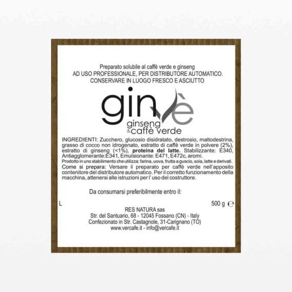 Ginvè solubile