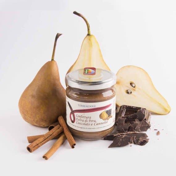 Confettura extra di pera, cioccolato e cannella