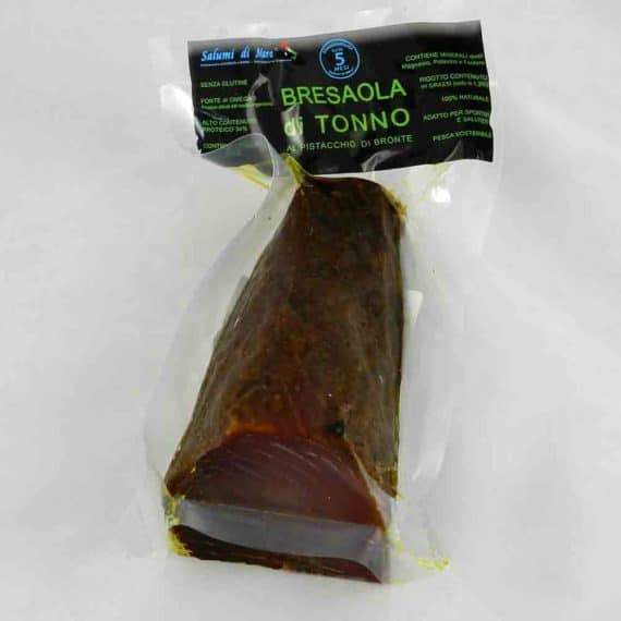 Bresaola di tonno al pistacchio di Bronte