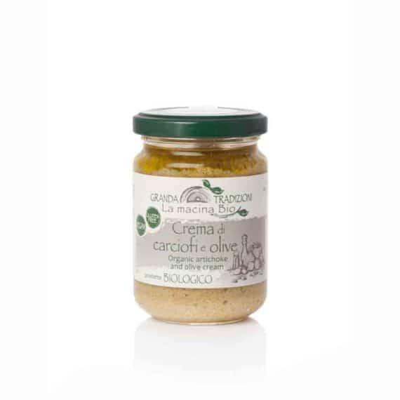 Crema di carciofi e olive BIO