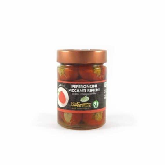 Peperoncini piccanti ripieni BIO