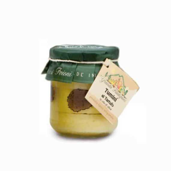 Tumini d'Alba al tartufo in olio di oliva
