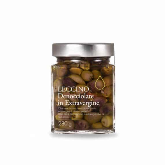 Olive nere Leccino denocciolate in olio extravergine