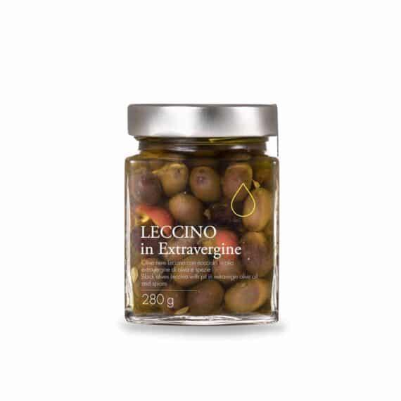 Olive nere Leccino in olio extravergine