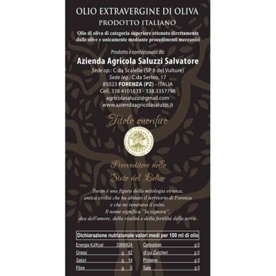 Olio extravergine di oliva Turan