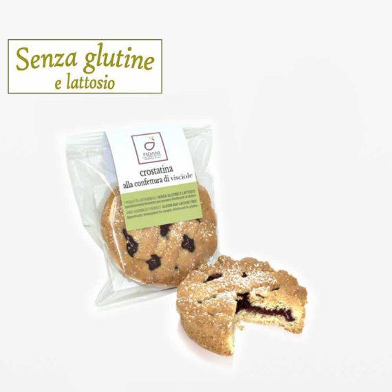Crostatina alle visciole senza glutine e lattosio