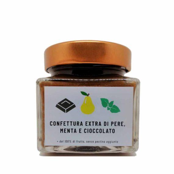 Confettura extra di pere, menta e cioccolato