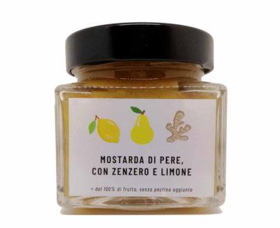 Mostarda di pere con zenzero e limone