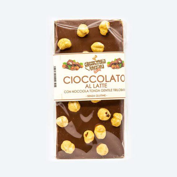 Cioccolato al latte con nocciola Tonda Gentile Trilobata