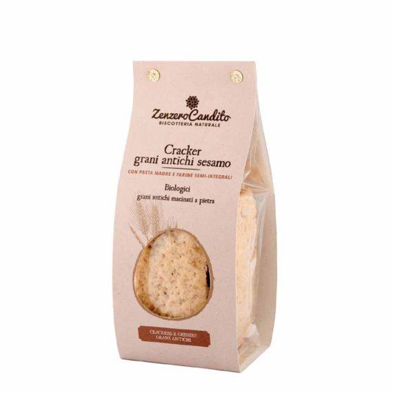 Crackers grani antichi e semi di sesamo