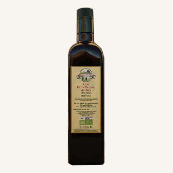 Olio extravergine di oliva toscano BIO in bottiglia