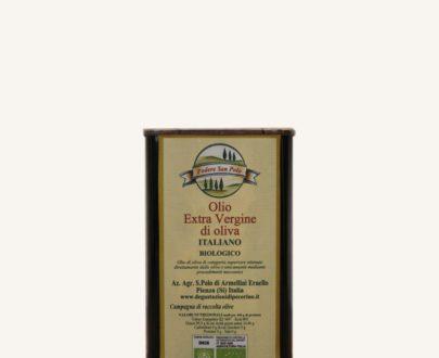 Olio extravergine di oliva toscano BIO in lattina